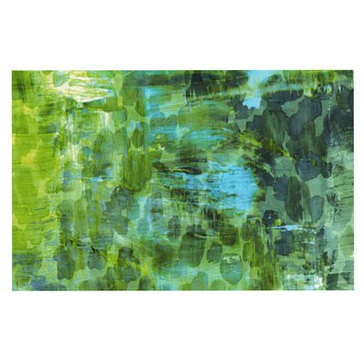Ebi Emporium Pastel Jungle Doormat Color: Green/Blue