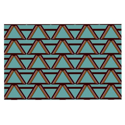 Nina May Deco Angles Doormat Color: Choco Mint