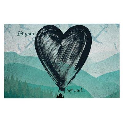 Nick Atkinson Heart Set Sail Doormat