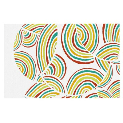Pom Graphic Design Rainbow Sky Doormat