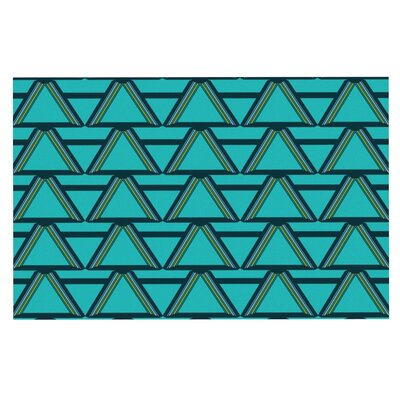 Nina May Deco Angles Doormat Color: Blue