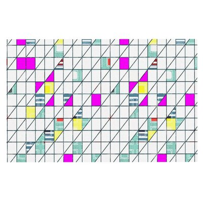 Michelle Drew Squares Abstract Geometry Doormat