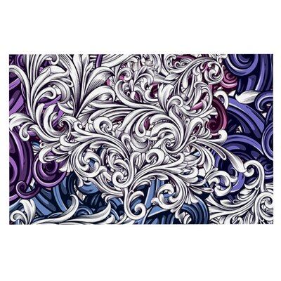 Nick Atkinson Celtic Floral I Abstract Doormat