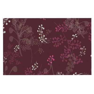 Laurie Baars Ferns Vines Doormat Color: Maroon