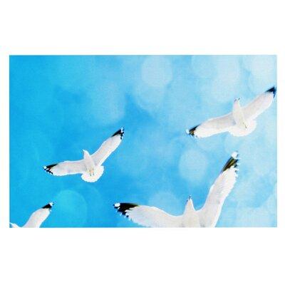Robin Dickinson Fly Free Birds Sky Doormat