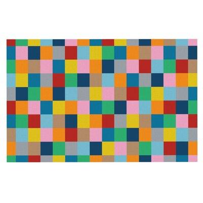 Project M Blocks Zoom Geometric Rainbow Doormat