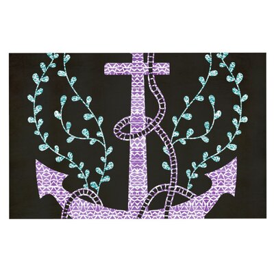 Pom Graphic Design Tribal Nautica Doormat Color: Black