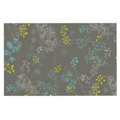 Laurie Baars Ferns Vines Doormat Color: Brown/Aqua