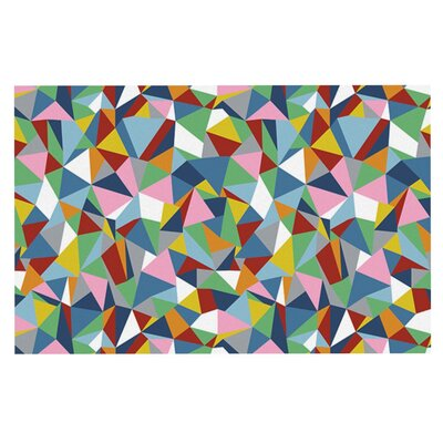 Project M Abstraction Rainbow Abstract Doormat Color: Brown