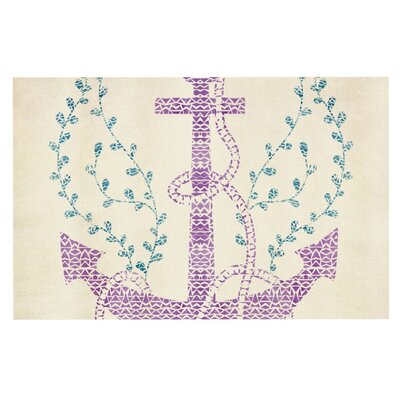Pom Graphic Design Tribal Nautica Doormat Color: Cream