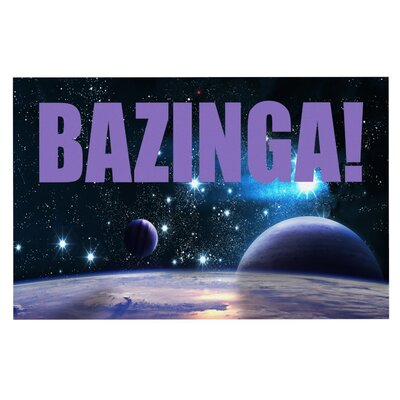 Bazinga Space Doormat Color: Purple