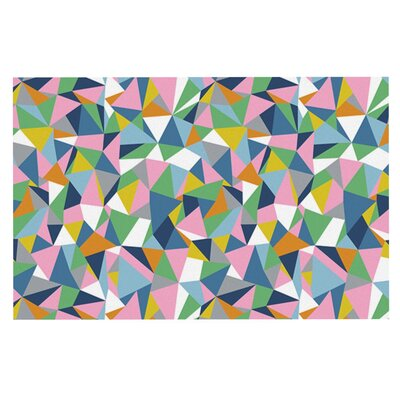 Project M Abstraction Rainbow Abstract Doormat Color: Pink
