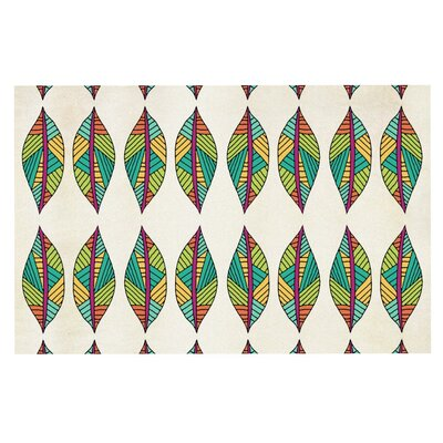 Pom Graphic Design Tribal Leaves Doormat