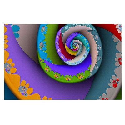 Micah Sager Flor Essence Rainbow Spiral Doormat