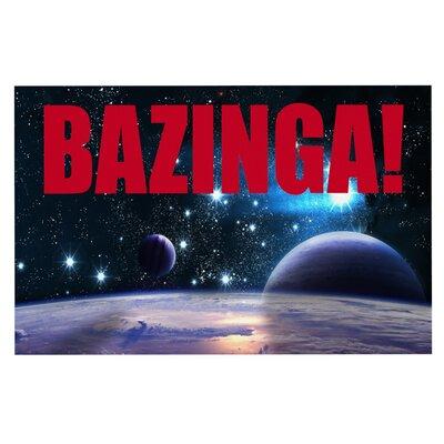 Bazinga Space Doormat Color: Red