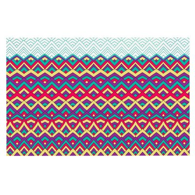 Pom Graphic Design Horizons Doormat Color: Blue