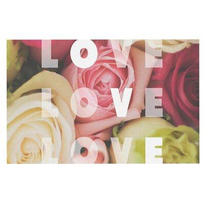 Libertad Leal Love Love Love Roses Doormat