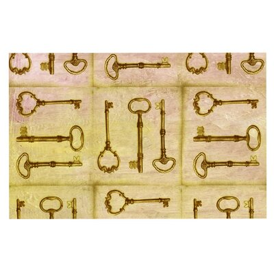 Marianna Tankelevich Secret Keys Doormat Color: Tan