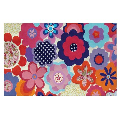 Louise Machado Patchwork Flowers Doormat