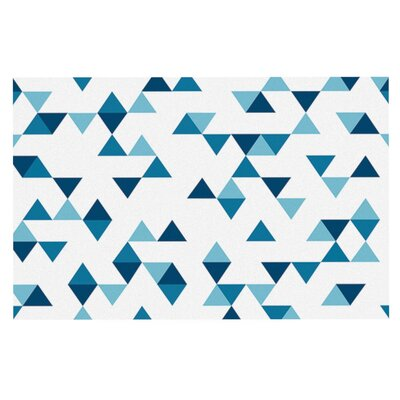 Project M Triangles Doormat Color: Blue/Navy