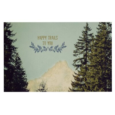 Robin Dickinson Happy Trails Doormat