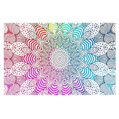 Monika Strigel Rainbow Dots Doormat