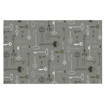 Laurie Baars Keys Doormat Color: Gray