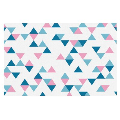 Project M Triangles Doormat Color: Pink/Blush/Blue