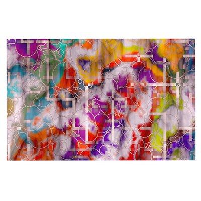 Micah Sager Quantum Foam Rainbow Geometric Doormat