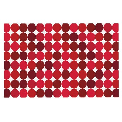 Noblefur Dots Doormat Color: Red