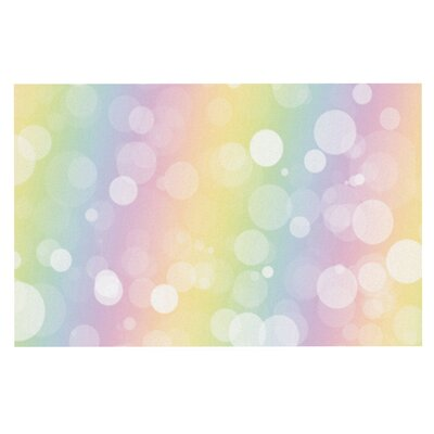 Pastel Prism Rainbow Bokeh Doormat