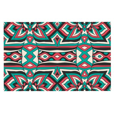 Pom Graphic Design Ethnic Floral Mosaic Doormat