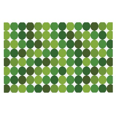 Noblefur Dots Doormat Color: Green