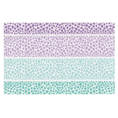 Nina May Denin Diamond Doormat Color: Purple/Teal