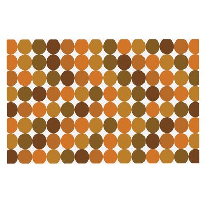 Noblefur Dots Doormat Color: Orange Harvest