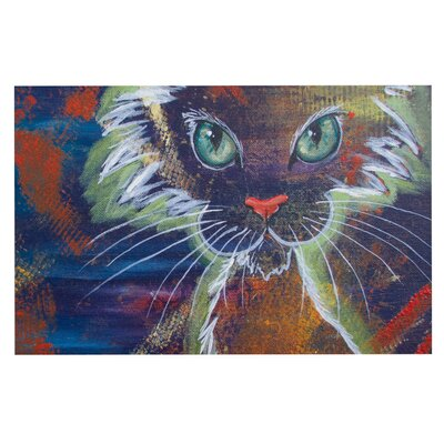 Padgett Mason Rave Kitty Doormat