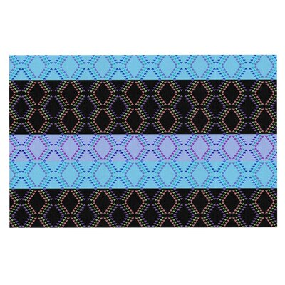 Nina May Denin Diamond Doormat Color: Blue/Black