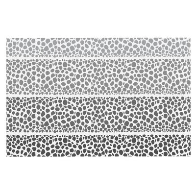 Nina May Denin Diamond Doormat Color: Gray/White