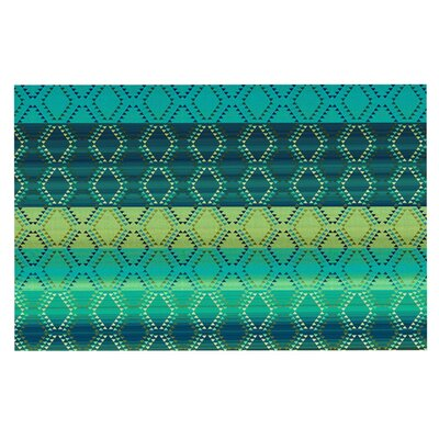 Nina May Denin Diamond Doormat Color: Green/Turquoise