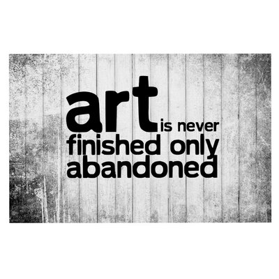 Art Never Finished Doormat