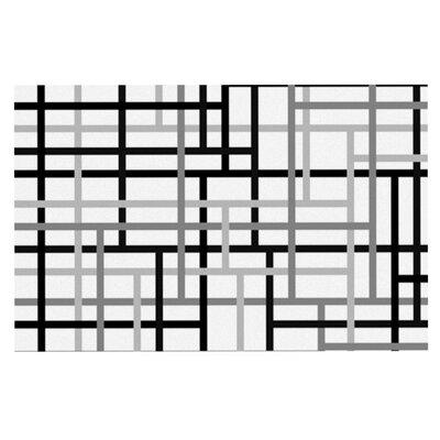 Trebam Veza Modern Lines Doormat Color: Gray