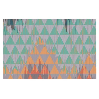 Nika Martinez Ikat Geometrie Doormat Color: Orange