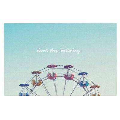 Libertad Leal Dont Stop Believing Ferris Wheel Doormat
