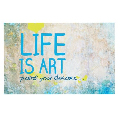 Life Is Art Doormat