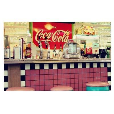 Sylvia Cook Retro Diner Coca Cola Doormat