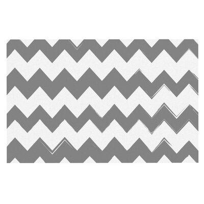 Candy Cane Chevron Doormat Color: Gray