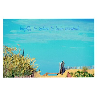 Robin Dickinson Simplify Beach Sky Doormat