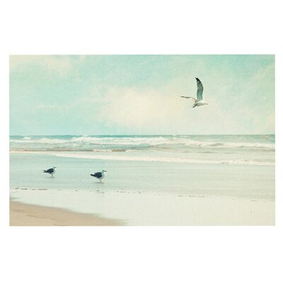 Sylvia Cook Away We Go Beach Seagull Doormat
