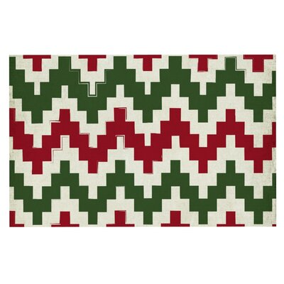 Christmas Gram' Chevron Doormat