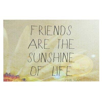 Rachel Burbee Friends and Sunshine Doormat